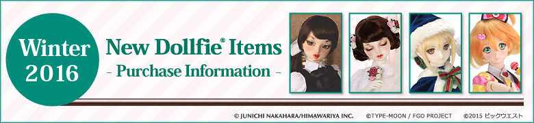 Winter 2016 New Dollfie Items - Purchase Information -