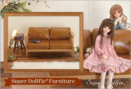 Dollfie Furniture: Wood Frame Sofa